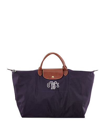 Le Pliage Monogram Large Travel Tote Bag, Purple
